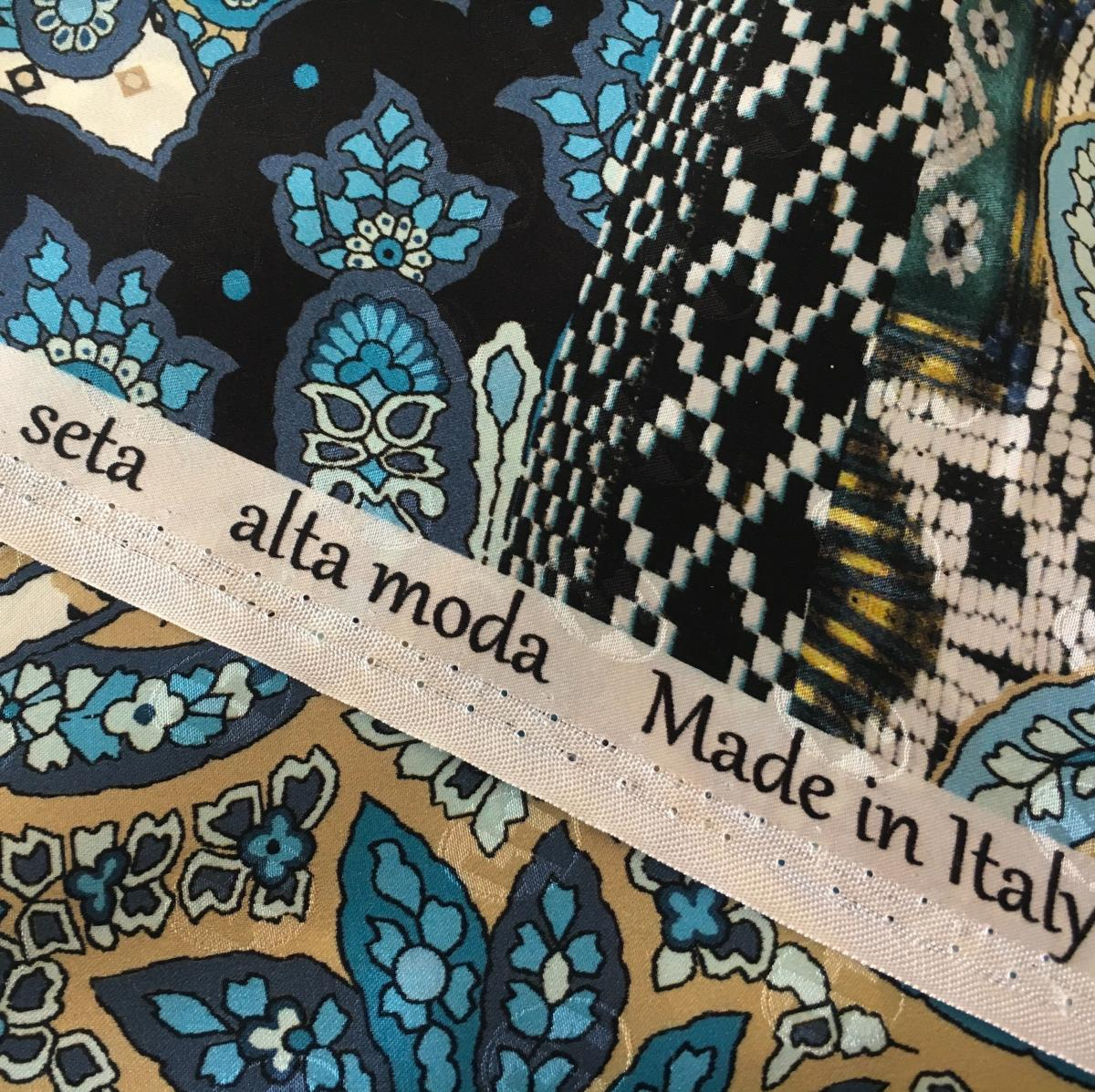Seta Alta Moda, Italian high end silk, Stefanie Savary, online shop for hand made sustainable luxury dresses